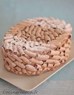 Recette du gâteau Concorde de Gaston Lenôtre, biscuit meringué garni de mousse au chocolat, avec les trucs pour le réussir