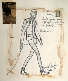 Japanese grade school boy as inspiration!?  (Bonnie Cashin Sketch- Jacket and shorts by FIT Library Department of Special Collections, via Flickr)