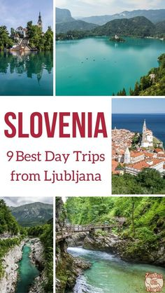 9 Best day trips from Ljubljana Slovenia – Lake Bled + other Wonders Slovenia Travel Guide – Discover the 9 best days trip from Ljubljana to discover for example lake Bled, Lake Bohinj, the coastal town of Piran, the emerald Soca River… So much to see Travel Around Europe, Europe Travel Guide, Europe Destinations, Travel Around The World, Cool Places To Visit, Places To Travel, Places To Go, Slovenia Ljubljana, Slovenia Travel