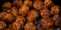 Whether they're served over creamy mashed potatoes, paired with fluffy white rice or made to fill an out-of-this-world meatball hero—these 5 amazing meatball recipes for your slow cooker are sure to knock the whole family off of their feet! Meatball Recipes, Meat Recipes, Slow Cooker Recipes, Appetizer Recipes, Crockpot Recipes, Cooking Recipes, Appetizers, Meat Meals, Chicken Recipes