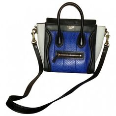 CELINE LUGGAGE NANO BAG CÉLINE ($3,295) ❤ liked on Polyvore featuring bags and luggage