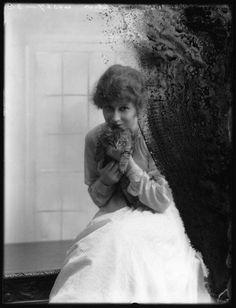 Christine Silver (Mrs Roland Sturgis) by Bassano Ltd - whole-plate glass negative, 26 June 1917