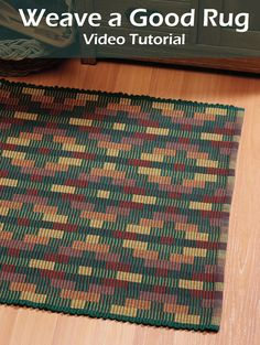 This weaving tutorial is perfect for beginners to learn dozens of tricks and tips about loom weaving to help you weave warp rep, rag, and boundweave rugs.