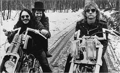 Joe Walsh and James Gang.its not enough to ride a springer chopper, to truly be a certified badass.one must ride in the snow! Eagles Band, I Love Music, Great Bands, Classic Rock, Music Stuff, Rock Music, Music Music, Rock N Roll, Album Covers