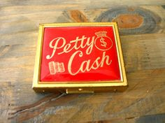 Vintage Brass Petty Cash Compact. $12.00, via Etsy.