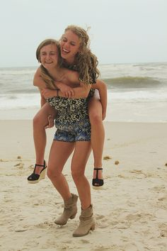 my best friend and i <3 loving life& the beach <3