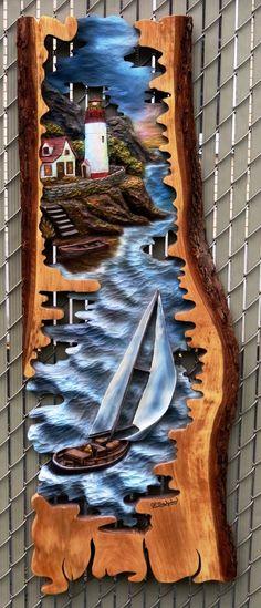 Lujo de la clase de tallado en madera sunset por DavydovArt en Etsy