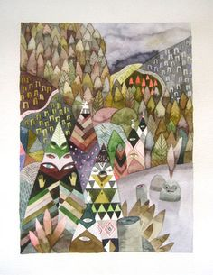 Introductions by Meghan Hildebrand. Watercolour. $750 at Madrona Gallery.