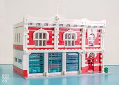 ~ Lego MOCs City ~ The Classic LEGO Fire Station MOC