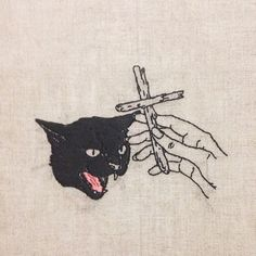 An interview with Melbourne-based artist Adipocere about his dark, occult embroidery.