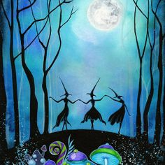 Witches Dancing Under the Moob