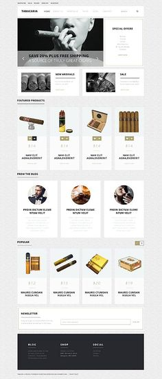 Tabacaria Cigar Shop #WooCommerce #template. #themes #business #responsive http://templates.jrstudioweb.com/