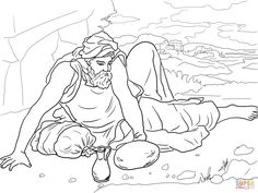 Elijah And The Widow Coloring Page