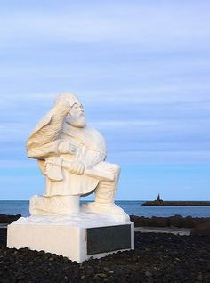 Flóki Vilgerðarson  was the first Norseman to deliberately sail to Iceland. His story is documented in the Landnámabók manuscript. He heard good news of a new land to the west, then known as Garðarshólmi.