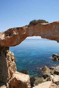 The natural bridge near Protaras, Cyprus  I love this place.....my fav place on earth...