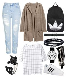 """""""34"""" by bswizzzlee ❤ liked on Polyvore featuring Monki, Topshop, Rosendahl, H&M, adidas, M&Co, Phillip Gavriel and Aesop"""