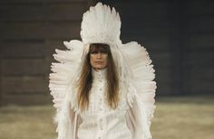 What do you think? #Chanel Shows Controversial Native American Headdresses for Pre-Fall #fashion #women kuyam.com