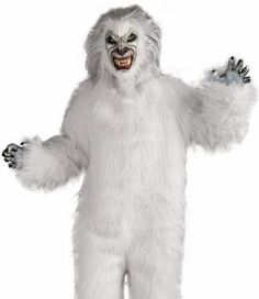 Yeti (white) Adult Halloween Costume in Standard Size includes Mask and jumpsuit with  sc 1 st  Pinterest & 58 best BigFoot Costumes images on Pinterest | Bigfoot costume Baby ...