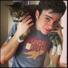 Chris Colfer and Brian