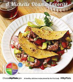 Carne Asada Tacos #protein #myplate #myplatebirthday