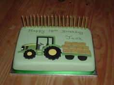 Tractor Cake in a field Birthday Cake Ideas Pinterest Tractor