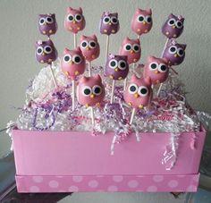 chá de bebê coruja cakepops