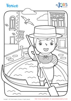 Venice Coloring Page