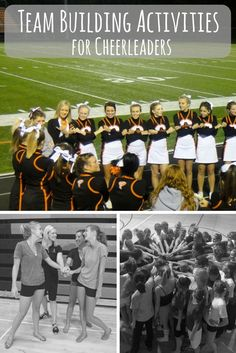Teambuilding for cheerleaders. Coaching cheerleading. Cheer games. Cheerleading activities. Squad bonding.