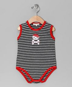 Take a look at this Silver & Charcoal Stripe Pirate Bodysuit - Infant by Victoria Kids on #zulily today!