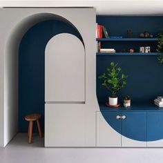Flat Interior, Room Interior, Home Interior Design, Interior Architecture, Flexible Furniture, One Bedroom Apartment, Deco Design, Office Interiors, Furniture Making