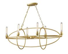 Persis Oval Chandelier features a Satin Gold or Old Silver finish, creating a modern look with timeless appeal. Six 60 watt, 120 volt Edison Tube shape Medium base incandescent bulbs are included. Comes with 6 feet of chain. ETL listed. 46 inch width x 18 inch height x 15 inch depth x 54 inch maximum length.