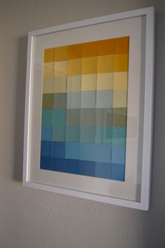 want to do something like this, Jason just brought be a crap load of paint chips.