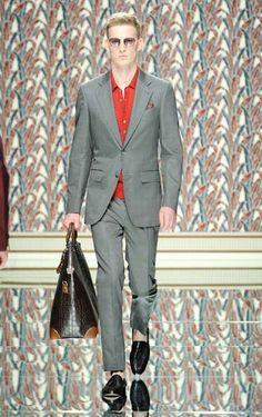 Ermenegildo Zegna - Men Fashion Spring Summer 2013 - Shows - Vogue. Large Men Fashion, Mens Fashion Week, Fashion Show, Fashion Design, Milan Fashion, Fashion Spring, Women's Fashion, Vogue, Designer Clothes For Men