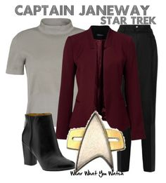 """""""Star Trek Voyager"""" by wearwhatyouwatch ❤ liked on Polyvore featuring RED Valentino, Rochas, Forever New, Nine West, women's clothing, women, female, woman, misses and juniors"""