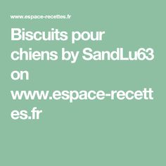 Biscuits pour chiens by SandLu63  on www.espace-recettes.fr
