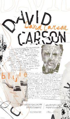 David Carson - biography poster - cargocollective.com More