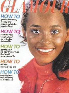 Daphne Maxwell Reid on the October 1969 cover of Glamour. She was the first black model to appear on the cover