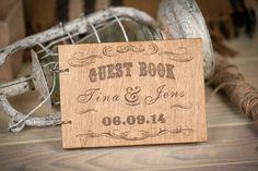 Wedding Guest book Rustic Wedding Guestbook Guest Book от woodlack