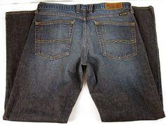 Lucky Brand Indigo Medium Blue Denim Jeans Pants Men's Size 30/32 Short Inseam #LuckyBrand #BootCut