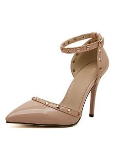 Shop Apricot Pointed Studded Trims Ankle Strap Heels from choies.com .Free shipping Worldwide.$42.99