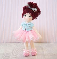 FREE SHIPPING Amigurumi häkeln Puppe Pretty von BubblesAndBongo