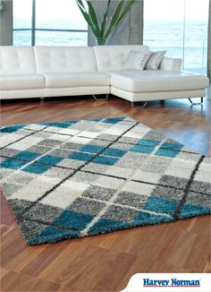 Rubix '66221/699' Rug – Combining the luxurious look and feel of a shag pile with today's fashionable colours.