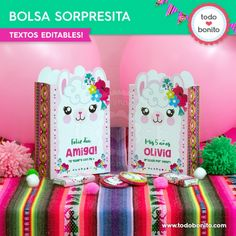 Bolsas de Llamas o Alpacas para imprimir Little Boxes, Cool Diy Projects, Ideas Para, Cactus, Llamas, Gift Wrapping, Cool Stuff, Holiday Decor, Choker