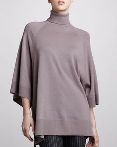 Cashmere Turtleneck Poncho, Cobalt by Michael Kors at Neiman Marcus Last Call.