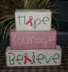 cancer wooden blocks