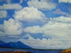 Summer clouds.   Paint by Margareth Giskegaard