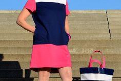 MY COLOURBLOCKED SHIFT DRESS : : VOGUE PATTERN V9048 : : VERY EASY VOGUE
