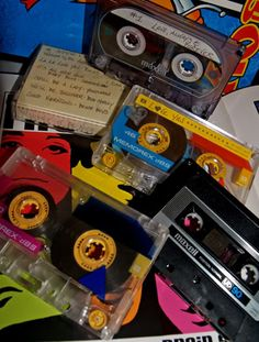 Mix Tape - Making a mix of all the music you like from the radio!  I LOVED the Memorex graphic clear ones.