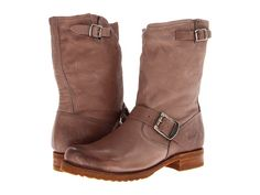Frye Veronica Shortie Grey Soft Vintage Leather - Zappos.com Free Shipping BOTH Ways
