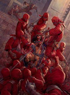 Wolverine Vs. Ninjas — Art — GeekTyrant